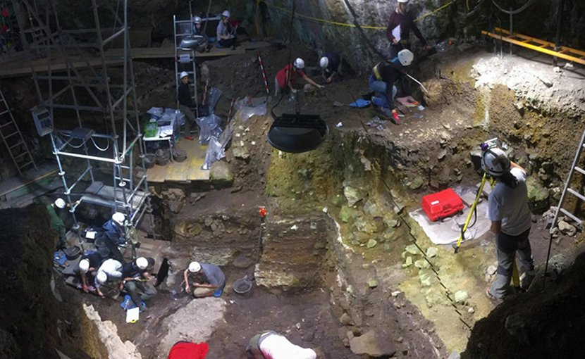 El Portalón cave in the Sierra de Atapuerca (northern Spain) contains four millennia of biomolecular prehistory. Credit Courtesy of Eneko Iriarte (Universidad de Burgos)
