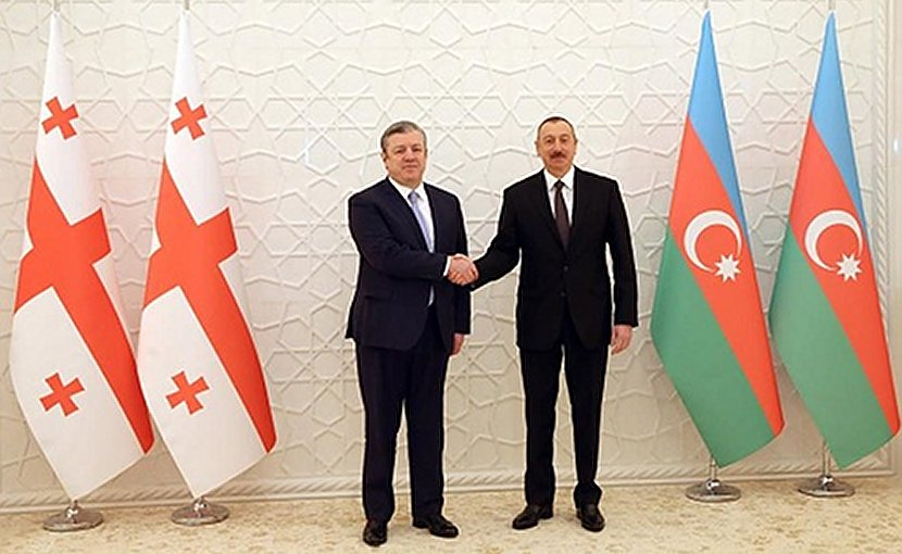 Georgia's PM Giorgi Kvirikashvili and Azerbaijan's President Ilham Aliyev, March 12, 2018. Photo: gov.ge