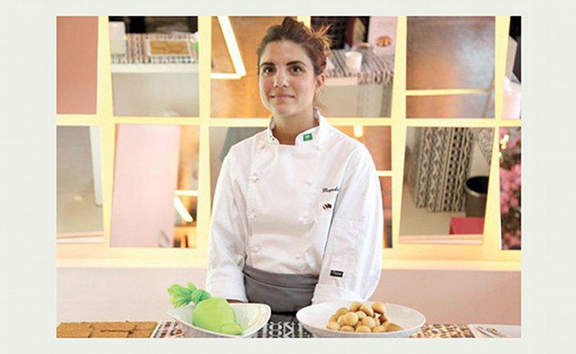 Pastry chef Mayada Badr. Photo Credit: Arab News.