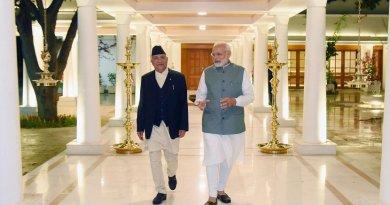 The Prime Minister of Nepal, Mr. K.P. Sharma Oli calls on India's Prime Minister, Shri Narendra Modi, in New Delhi. Photo Credit: India PM Office.