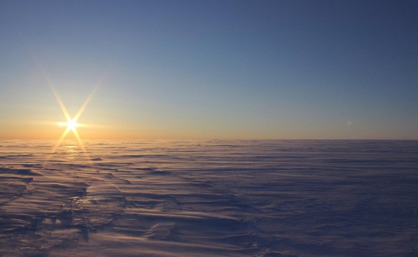 A cold and windy spring night on the vast landscape of Devon Ice Cap -- two subglacial lakes are lurking 750 m below the surface. Credit Anja Rutishauser