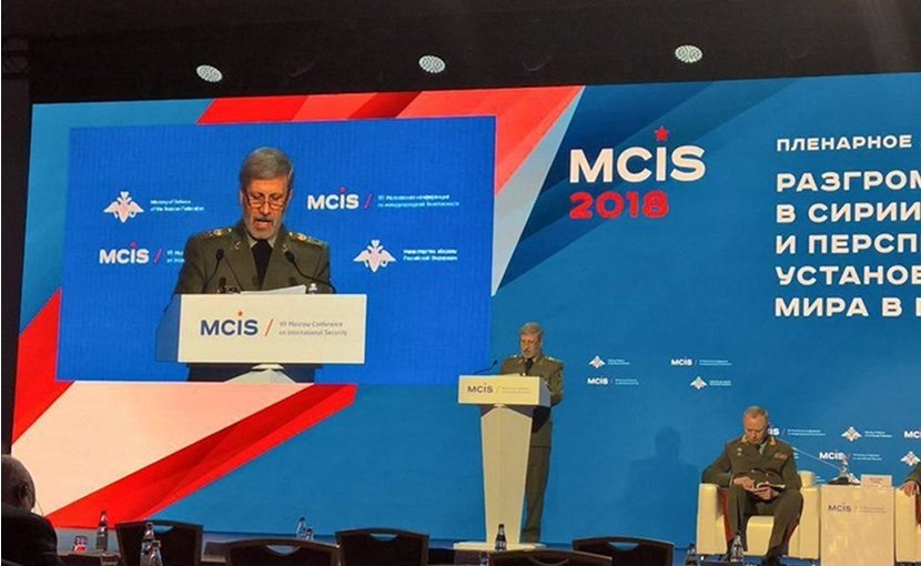 Iran's Defense Minister Iran's Defense Minister in Moscow. Photo Credit: Tasnim News Agency.