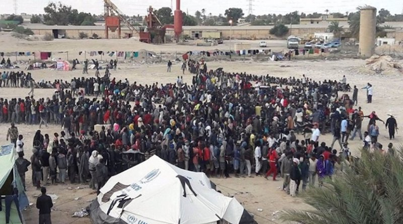 Refugees and migrants held captive by smugglers in deplorable conditions in Libya. Credit: UNHCR