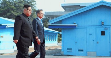 File photo of Kim Jong-un of North Korea and Moon Jae-in of South Korea. Photo Credit: South Korea President's Office.