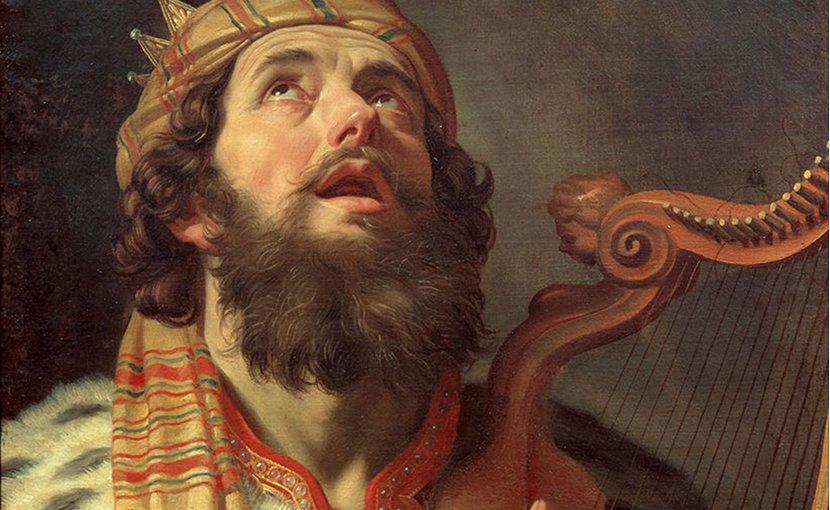King David Playing the Harp by Gerard van Honthorst