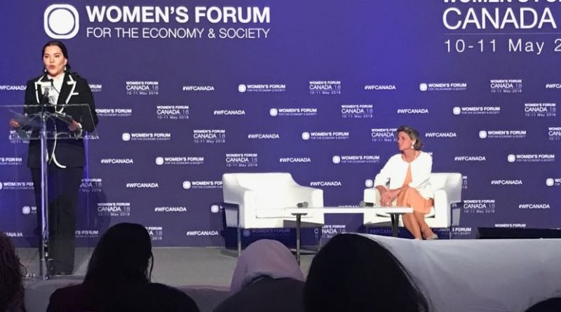 Princess Lalla Hasnaa, President of the Mohammed VI Foundation for Environment protection, takes part in the Women's Forum Canada 2018.