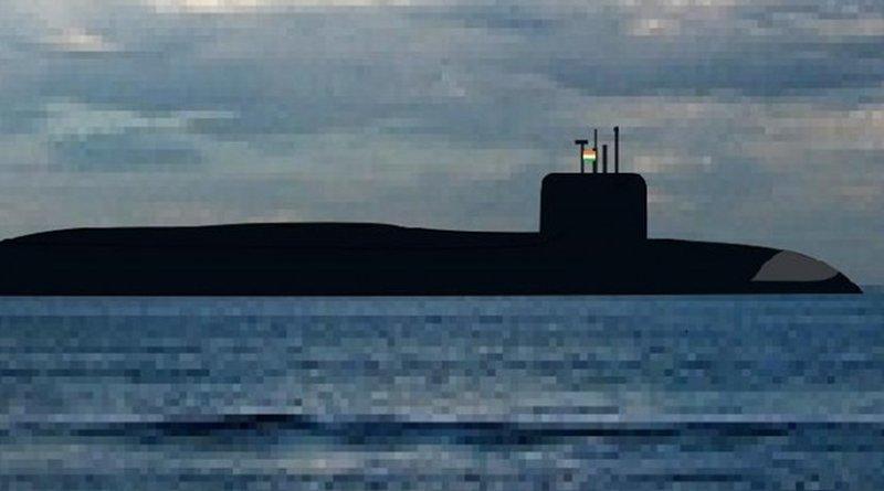 Indian navy submarine INS Arihant. Photo by Chanakyathegreat, Wikimedia Commons.