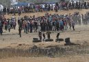 Gazan Protestors near Karni Crossing. Source: IDF, Wikipedia Commons.