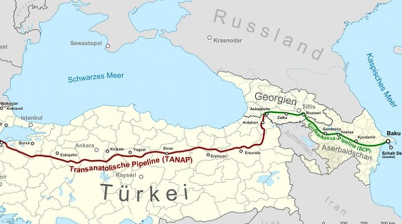 Trans-Anatolian Natural Gas Pipeline. Source: WIkipedia Commons.
