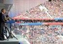 Russia's President Vladimir Putin at the opening ceremony of the 2018 FIFA World Cup. Photo Credit: Kremliin.ru