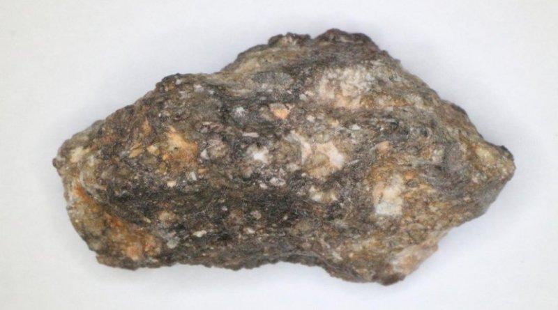 Photograph of lunar meteorite NWA 2727. Credit Masahiro Kayama, Tohoku University