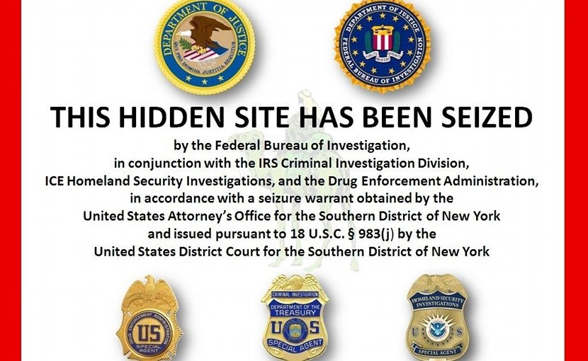 Image placed on original Silk Road after seizure of property by the FBI. Credit: FBI, Wikipedia Commons.