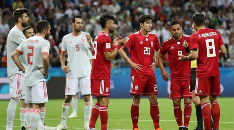 Spain and Iran play in World Cup. Photo Credit: Tasnim News Agency.