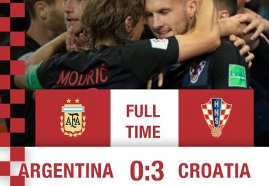 Croatia shocks Argentina in 0-3 win in 2018 World Cup. Photo Credit: HNS | CFF, Twitter.