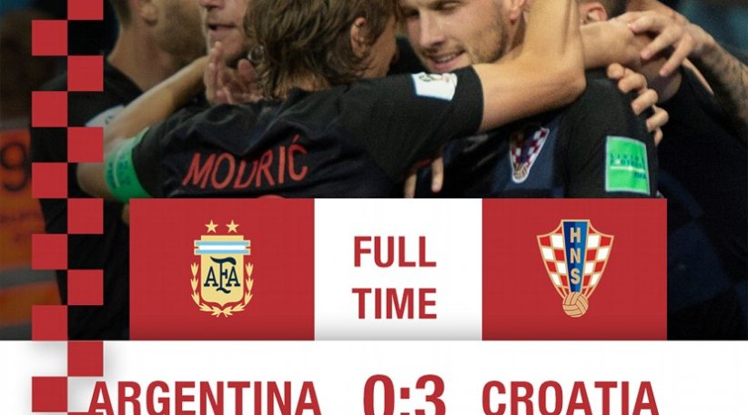 21015e3b6 Croatia shocks Argentina in 0-3 win in 2018 World Cup. Photo Credit