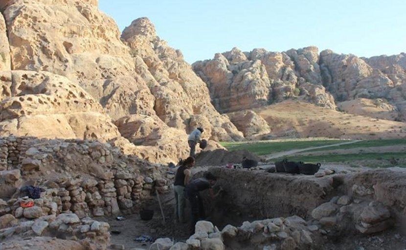 View of the early Neolithic communal structure at Beidha, Jordan. Credit Cheryl Makarewicz