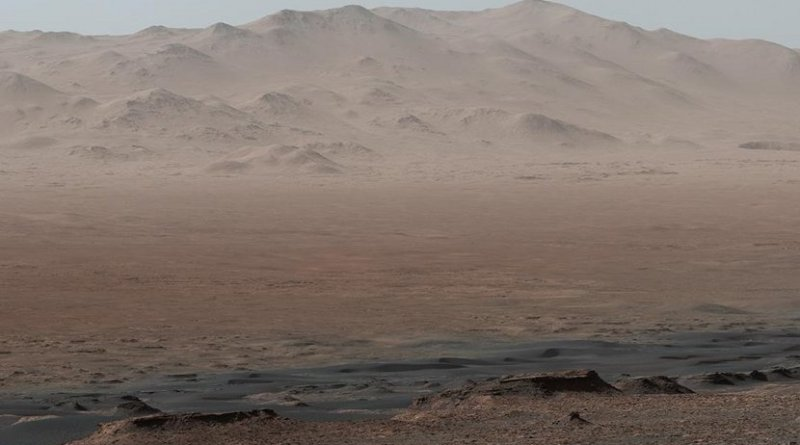 A panorama of Gale crater on Mars taken from Vera Rubin ridge. Credit provided courtesy of NASA/JPL-Caltech/MSSS