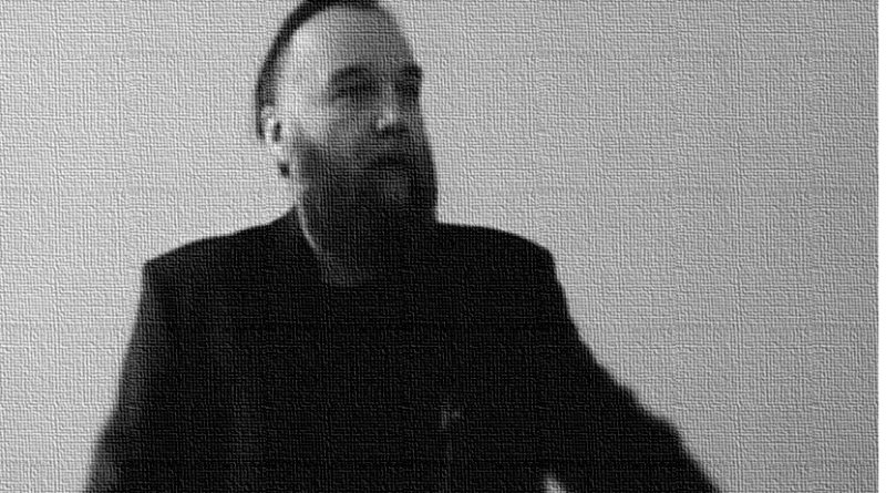 Edited photo of Aleksandr Dugin. Original Photo by Tempus, Wikimedia Commons.