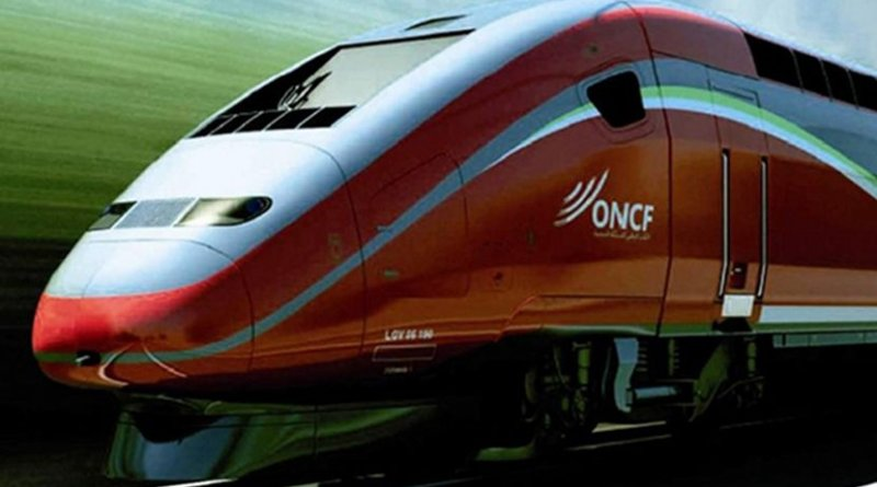 High-speed train in Morocco.
