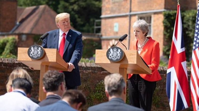 President Donald J. Trump and Prime Minister Theresa May hold a joint press conference | July 13, 2018 (Official White House Photo by Shealah Craighead)