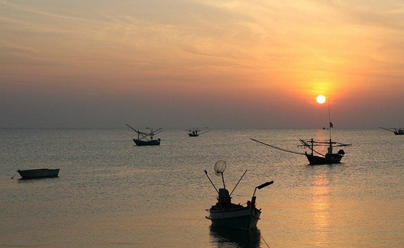Fishing fleet in Thailand.