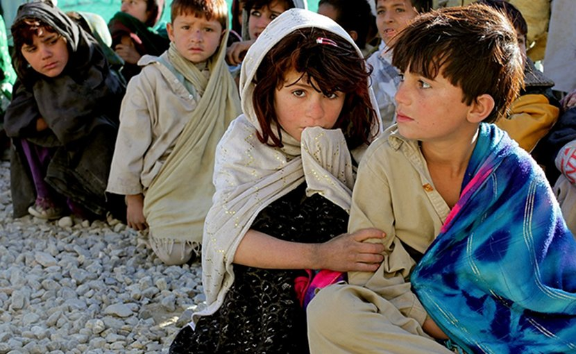Children in Afghanistan.