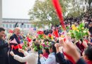 President Donald J. Trump and President Xi Jinping meet children waving Chinese and U.S. flags at welcoming ceremonies outside the Great Hall of the People, Thursday, November 9, 2017, in Beijing, People's Republic of China. (Official White House Photo by Shealah Craighead)