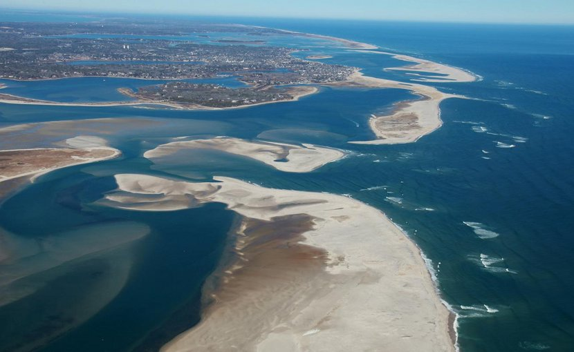Cape Cod National Seashore is a protected marine area, home to a variety of ecosystems with diverse plants and animals. Credit NASA Earth Observatory / Spencer Kennard