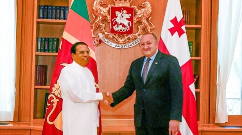 Sri Lanka's President Maithripala Sirisena meets with the President of Georgia Giorgi Margvelashvili. Photo Credit: Sri Lanka government.