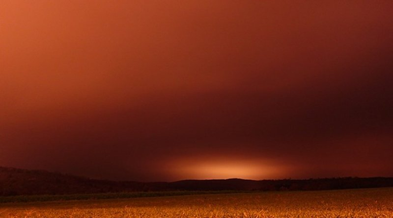 Dust storm in the Sahara.