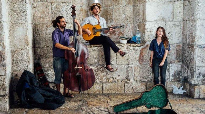 Street musicians in Jerusalem, Israel.
