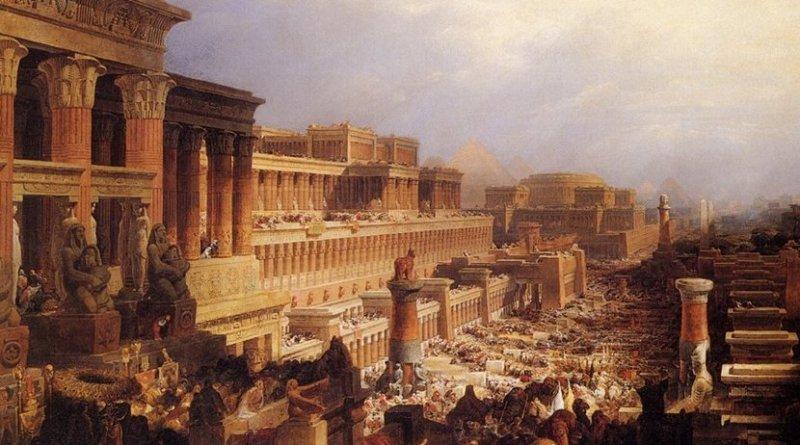 Departure of the Israelites, (David Roberts, 1829). Credit: Wikipedia Commons.