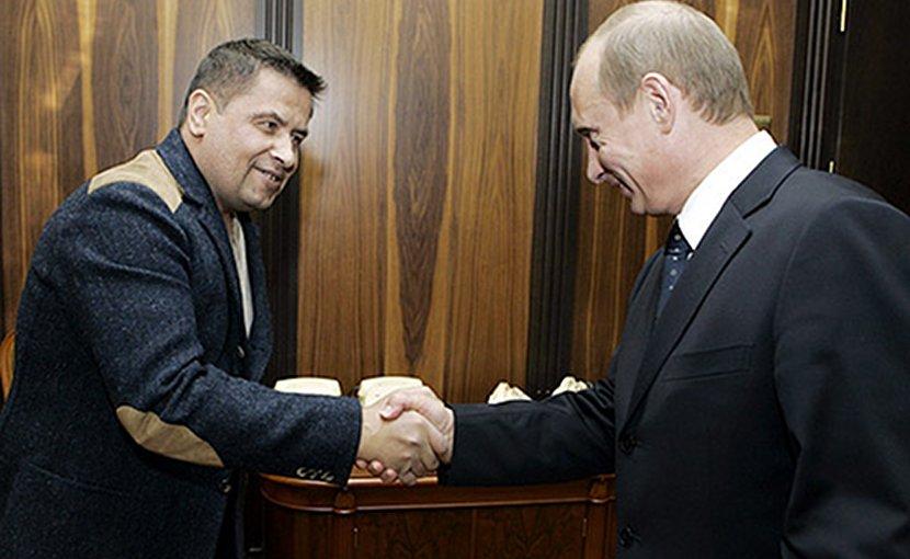 Lyube singer Nikolay Rastorguyev meets Russian president Vladimir Putin, a fan of the band. Photo Credit: Kremlin.ru.