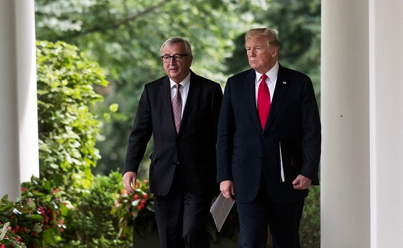 US President Donald Trump and European Commission President Jean-Claude Juncker. Photo Credit: Dan Scavino Jr., White House.