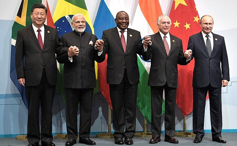 Participants in the 2018 BRICS summit. Photo Credit: Kremlin.ru