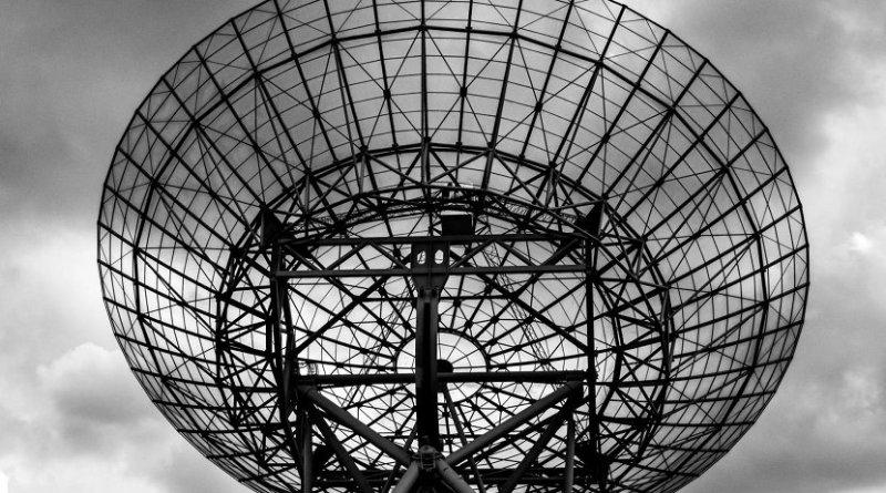 This is a westerbork radio telescope. Credit photo by Tim van der Kuip