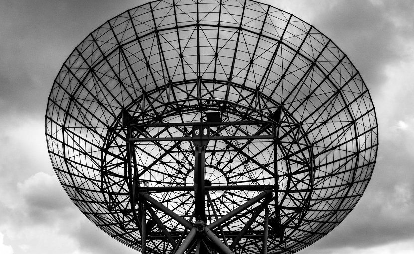 This is a westerbork radio telescope. Credit photo by Tim van der Kuip