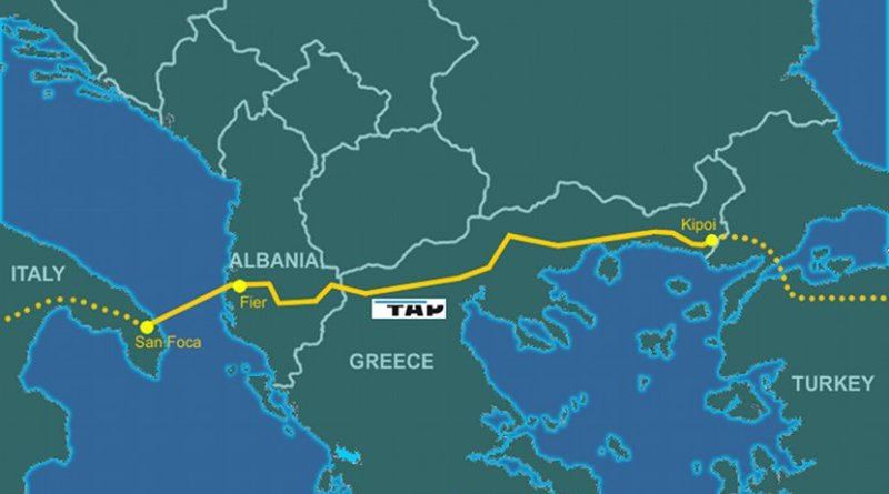 Trans-Adriatic Pipeline. Credit: Genti77, Wikipedia Commons.