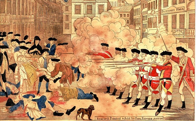 Boston Massacre by Paul Revere.