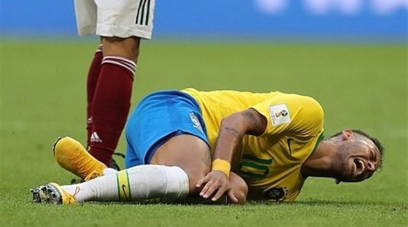 Brazil's Neymar da Silva Santos Júnior in 2018 World Cup. Photo Credit: Tasnim News Agency.