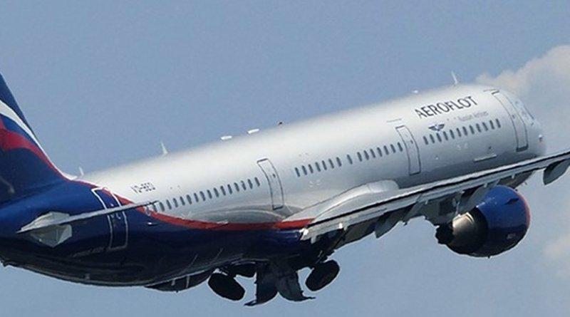 A Russian Aeroflot airplane