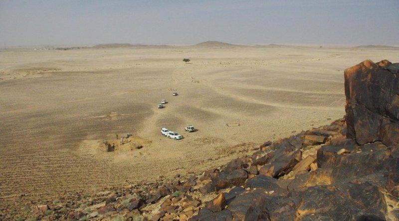 he site at Saffaqah in central Saudi Arabia. Image: ANU.