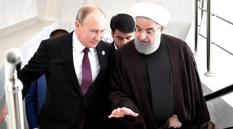 Russia's President Vladimir Putin with President of Iran Hassan Rouhani. Photo Credit: Kremlin.ru
