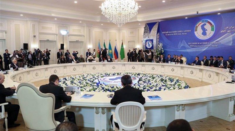 Participants at Caspian Summit in Kazakhstan. Photo Credit: Tasnim News Agency.