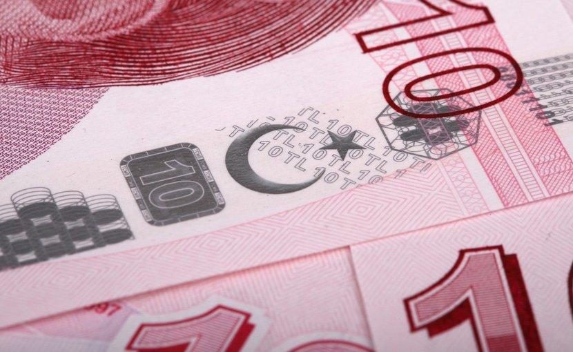 A Turkish lira banknote.
