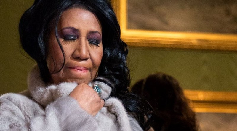 Aretha Franklin. Photo Credit: Aretha Franklin, White House, Wikipedia Commons.