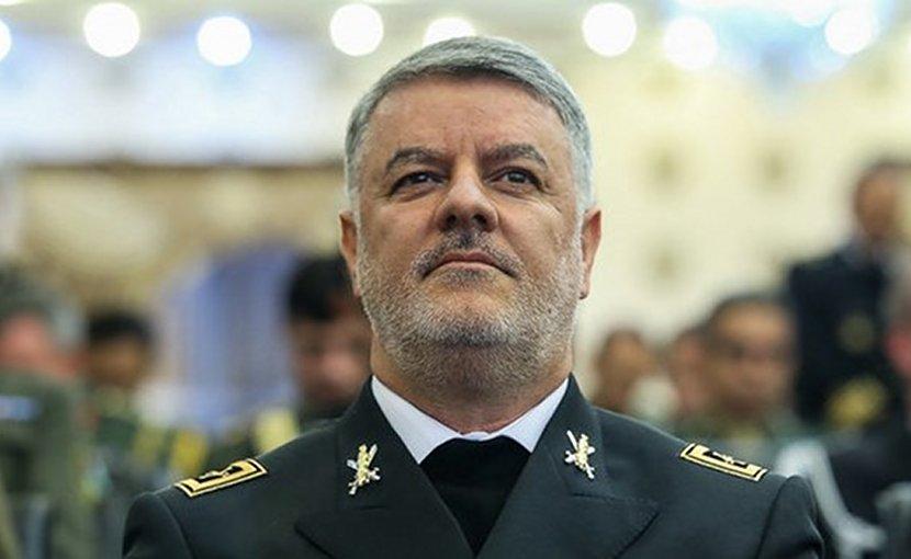 Iran's Navy Commander Rear Admiral Hossein Khanzadi. Photo Credit: Fars News Agency.