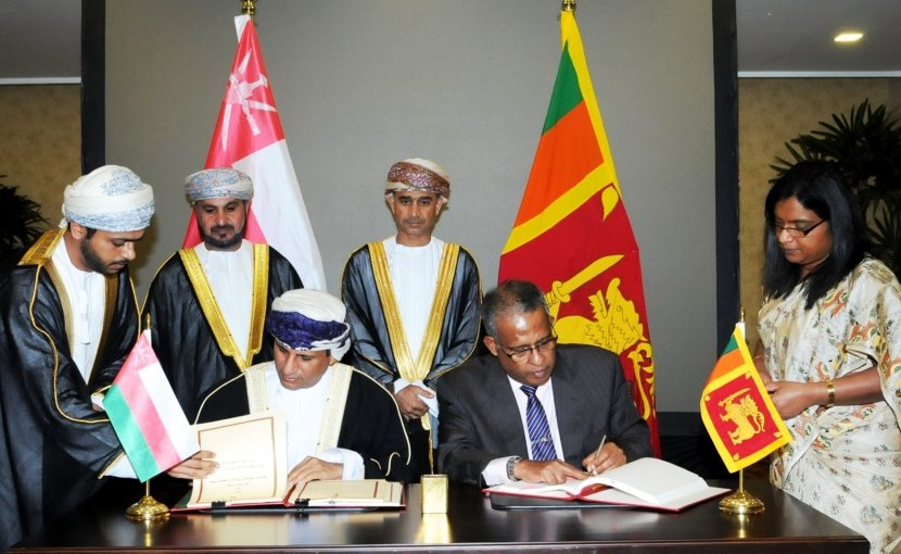 Sri Lanka and Oman sign Agreement on Avoidance of Double Taxation and Prevention of Fiscal Evasion. Photo Credit: Sri Lanka government.