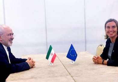 Iranian Foreign Minister Mohammad Javad Zarif and European Union Foreign Policy Chief Federica Mogherini. Photo Credit: Tasnim News Agency.