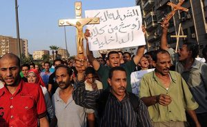 Arab Christians protesting.